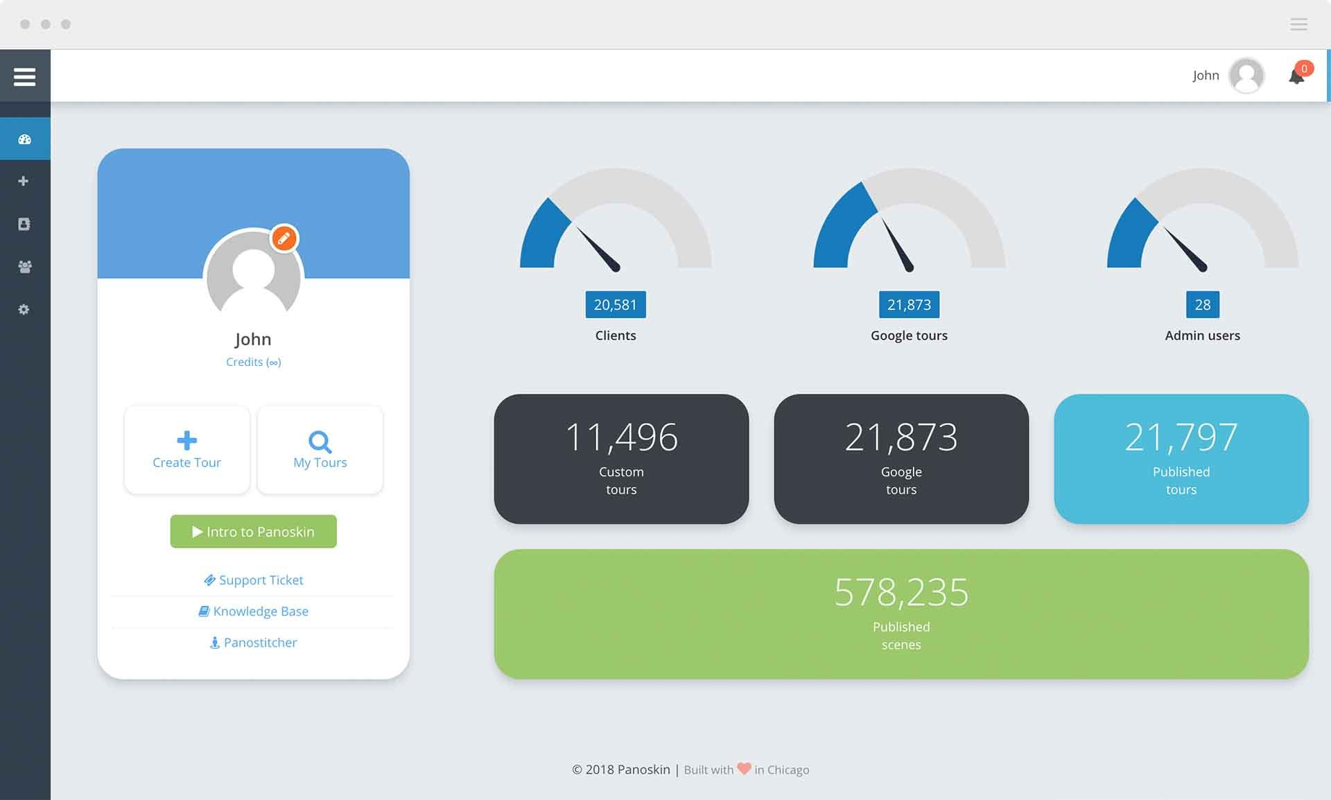 Panoskin Dashboard