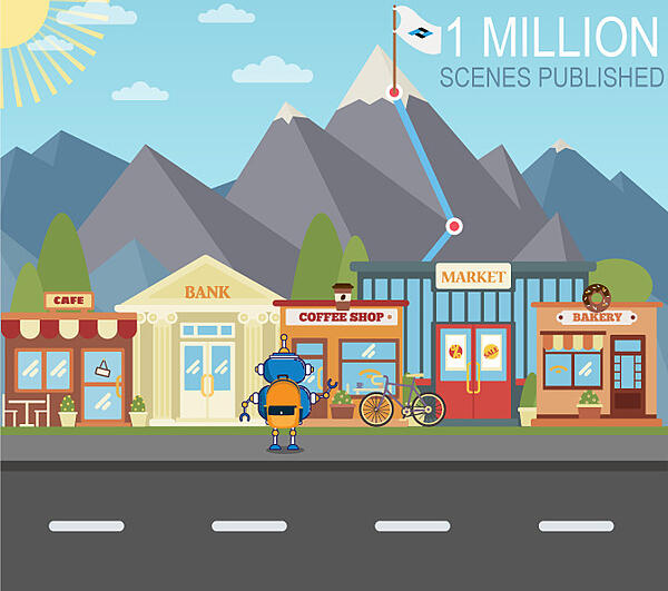 Panoskin Publishes 1 Million Scenes